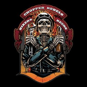 Logo klubu motocyklowego