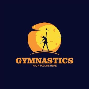 Logo klubu tanecznego baleriny w logo tanecznym
