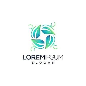 Logo koła liści