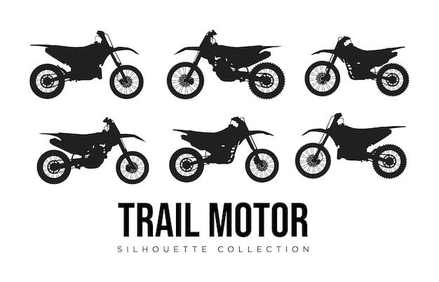 Logo kolekcji sylwetka silnika trail