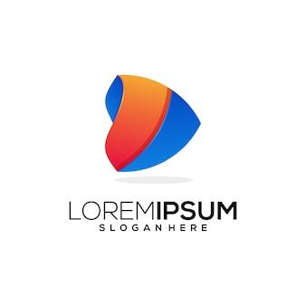 Logo kolorowa firma biznesowa