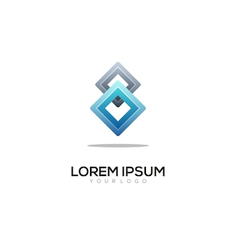 Logo kolorowa ilustracja gradientowa
