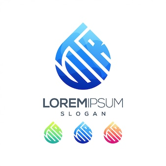 Logo kolorowe gradientu wody