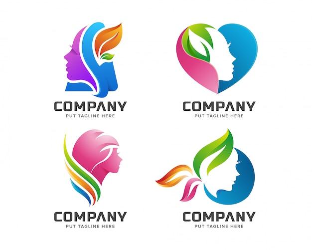 Logo kolorowe kobiece spa uroda