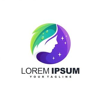 Logo kolorowe kobieta uroda