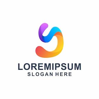 Logo kolorowe litery abstrakcyjne małe litery g.