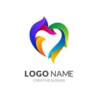 Logo kolorowe płomień serca