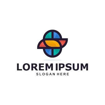 Logo kolorowe streszczenie litery s.