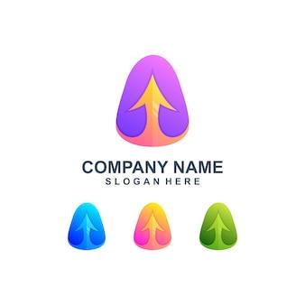 Logo kolorowy znak strzałki w górę