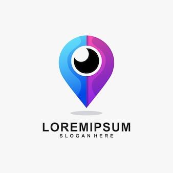 Logo kombinacji lokalizacji i oczu