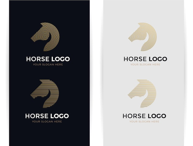 Logo konia abstrakcyjne kształty
