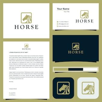Logo konia i wizytówka