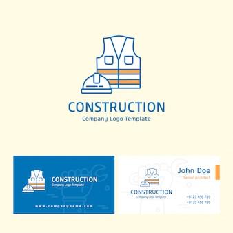 Logo konstrukcyjne i projekt przedniej tylnej karty