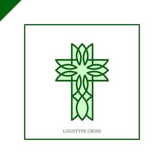 Logo kościoła. symbole chrześcijańskie. jezus się krzyżuje.