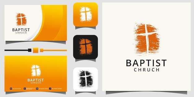 Logo kościoła. symbole chrześcijańskie lub katolickie. krzyż symbol ducha świętego
