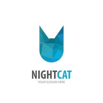Logo kota dla firmy biznesowej. prosty pomysł na logotyp kota. koncepcja tożsamości korporacyjnej. ikona kreatywnych kota z kolekcji akcesoriów.
