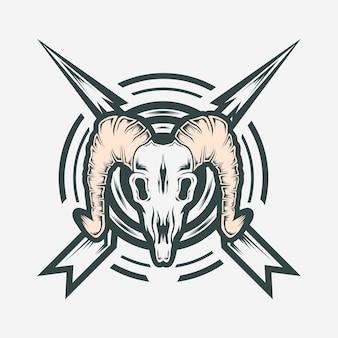 Logo kozy czaszki