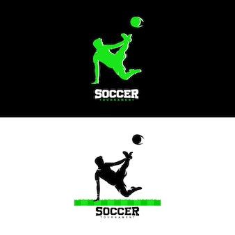 Logo kreatywne koncepcje projektowania piłki nożnej