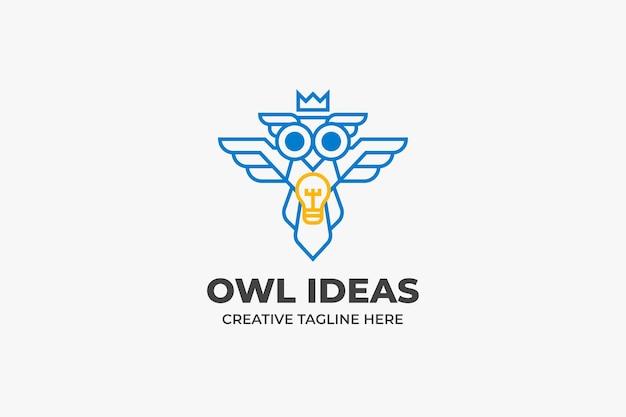 Logo kreatywne sowa