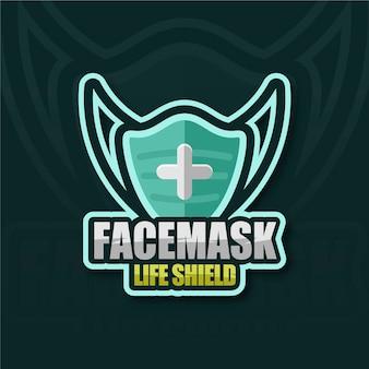 Logo kreatywnej maski na twarz