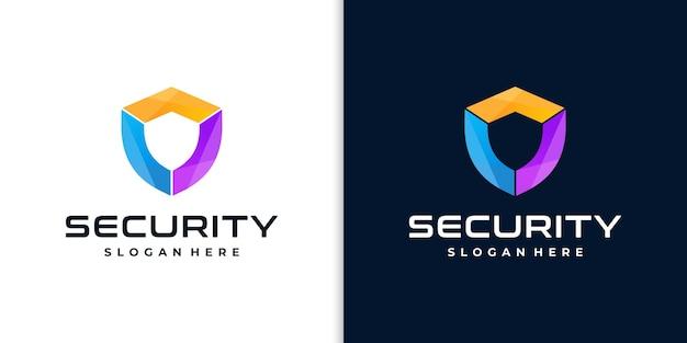 Logo kreatywnej tarczy dla bezpieczeństwa
