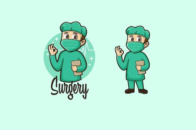 Logo kreskówka chirurgii