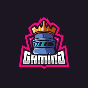 Logo króla kasku pubg do gier