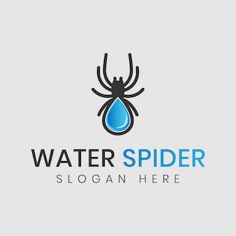 Logo kropli wody pająka