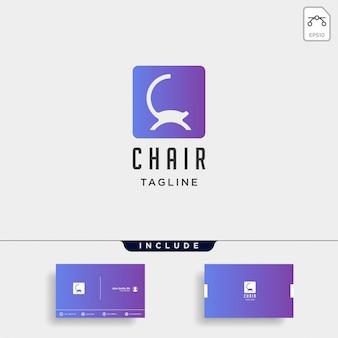 Logo krzesło na białym tle