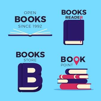 Logo książki zestaw płaska konstrukcja