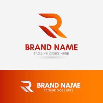 Logo kształt litery r