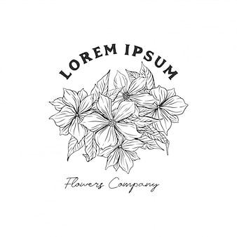 Logo kwiaciarni z kwiatami