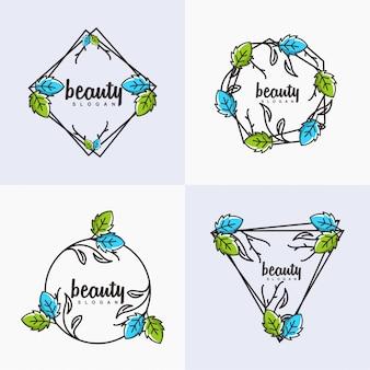 Logo kwiat piękna