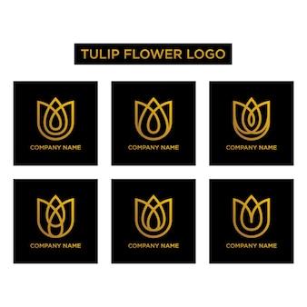 Logo kwiat tulipana