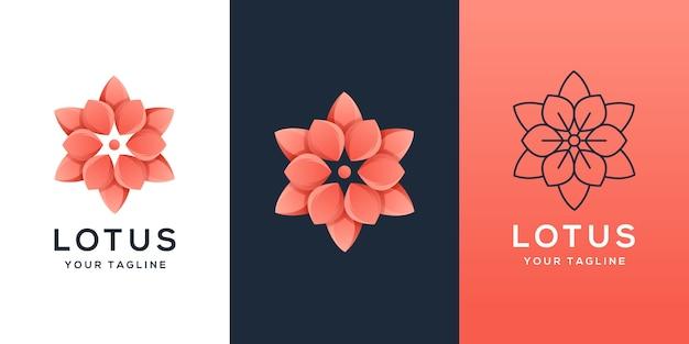 Logo kwiatowe abstrack