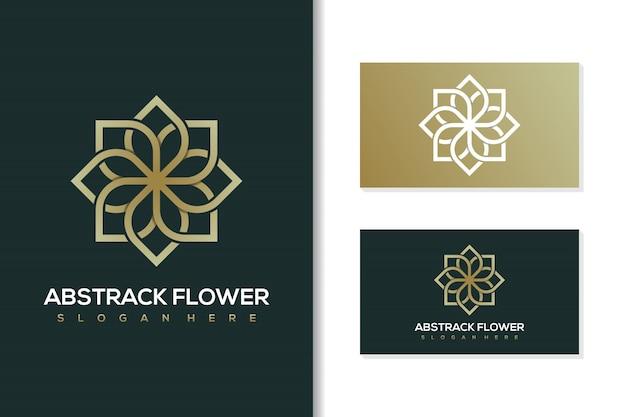 Logo kwiatu abstrack