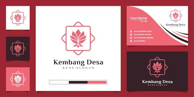 Logo kwiatu lotosu. centrum jogi, spa, luksusowe logo salonu piękności. projekt logo i wizytówki.