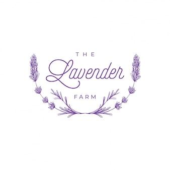 Logo kwiaty lawendy