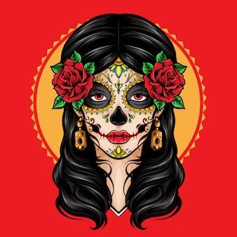 Logo la catrina sugar skull
