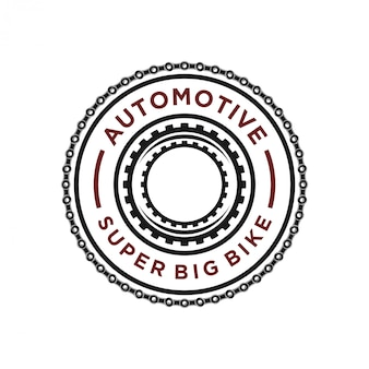 Logo łańcucha motocyklowego dla warsztatu