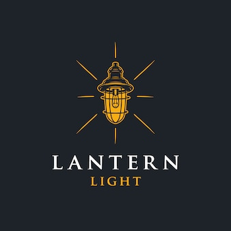 Logo lantern light negative space