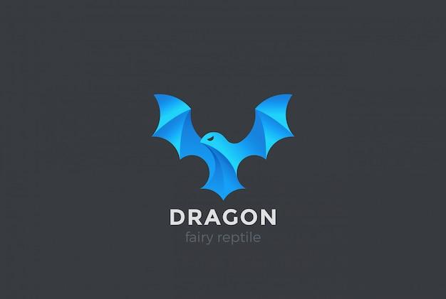 Logo latającego smoka