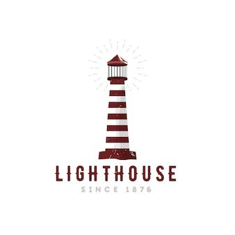 Logo latarni morskiej w stylu vintage