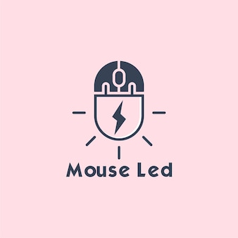 Logo led myszy
