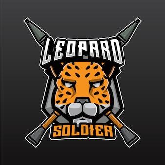 Logo leopard soldier