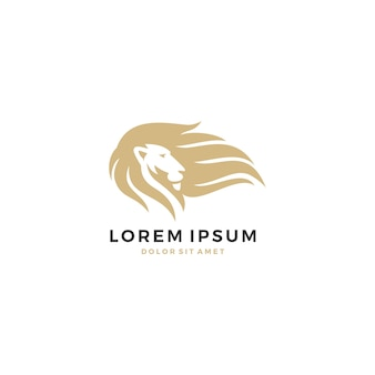 Logo lew włosy