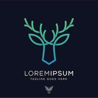 Logo linii gradientu jelenia