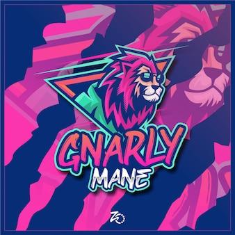 Logo lion cool gaming esport