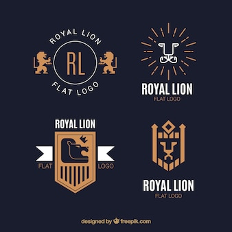 Logo lion, elegancki styl
