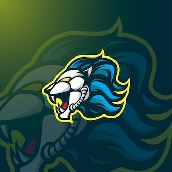 Logo lion maskotka e-sport